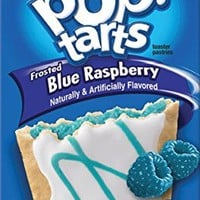 Kellogg's, Pop-Tarts, Limited Edition, Frosted Blue Raspberry Toaster Pastries, 8 Count, 14.1oz Box (Pack of 3)