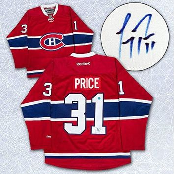 Carey Price Montreal Canadiens Autographed Red Reebok Premier Hockey Jersey