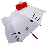 Hello Kitty Toddler Kid Umbrella with Cat Ears DIA. 27