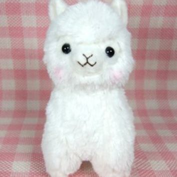 "Japanese Amuse Cute Alpacasso 17"" White Alpaca Llama Soft Animal Stuffed Plush Toy"
