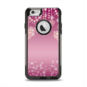 The Pink Sparkly Chandelier Hearts Apple iPhone 6 Otterbox Commuter Case Skin Set