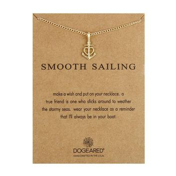 Love Anchor Card Alloy Clavicle Pendant Necklace   171211