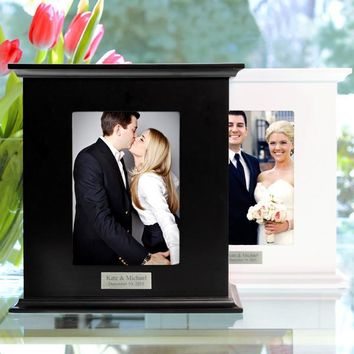 White Reception Card Holder Photo Box