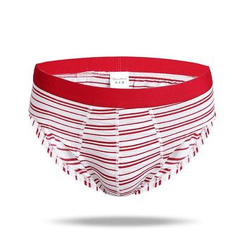 Stripe Hip-hugger Anti-microbial Underwear