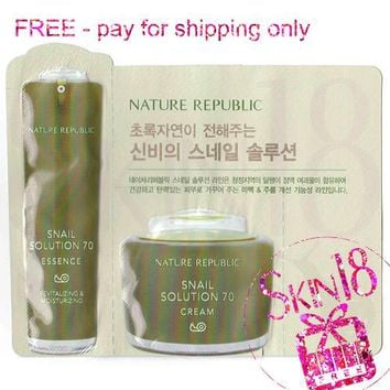 Freebies - Nature Republic Snail Solution 70 Pack (Essence + Cream)