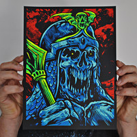 """Death Knight"" screen print – The Art of Skinner"