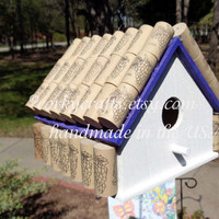 Wine cork bird house/grape retreat for your feathered friends
