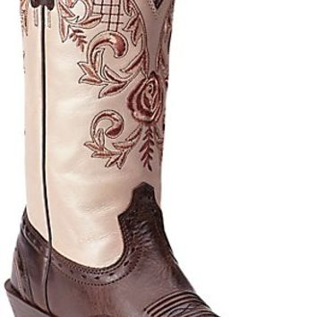 Ariat Terrace Acres Women's Chocolate Chip w/ Champagne Rose Top Punchy Square Toe Western Boots