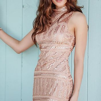 Jolene Short Sequin Open Back Homecoming Dress