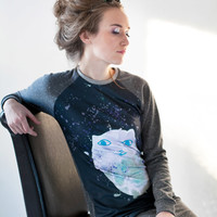 Moon cat - sweatshirt dress