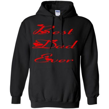 Best Dad Ever Pullover Hoodie With Front Pouch