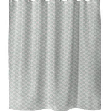 FRILL GREEN Shower Curtain By Tiffany Wong