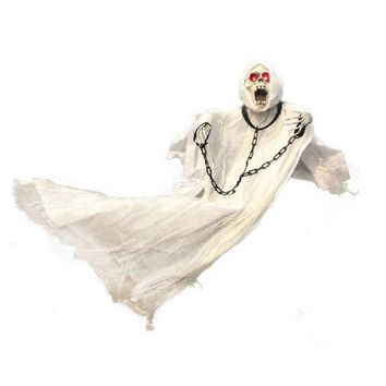 White Halloween Decoration Hanging Ghost with Chain Light