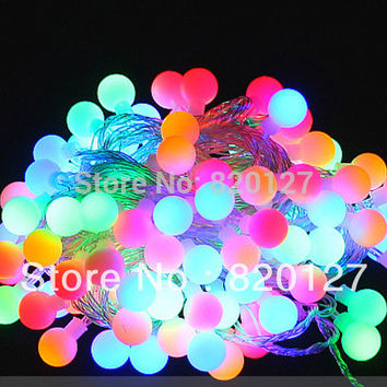 10m string of 56 balls christmas Multi Color Led lights fairy lights,BBQ lights,home party decoration light