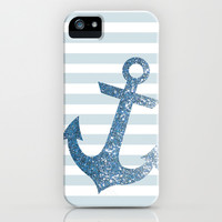 GLITTER ANCHOR IN BLUE iPhone & iPod Case by colorstudio
