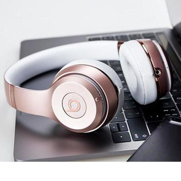 Fashion Beats solo3 wireless Headphone wireless bluetooth headset Rose gold