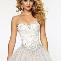 Mori Lee Tulle Skirt Dress 97076