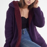 UO Carmella Cozy Reversible Coat | Urban Outfitters