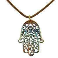 Hamsa Iridescent Necklace on Sale for $44.95 at HippieShop.com