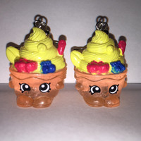 Shopkins Foodie Earrings - Yo-Chi - repurposed toys