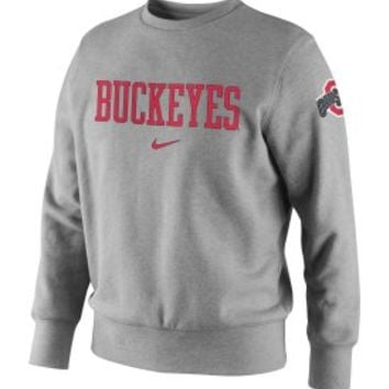 Nike Men's Ohio State Buckeyes Grey French Terry Crew Sweatshirt - Dick's Sporting Goods