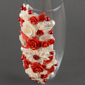 Handmade vase designer vase glass vase flower vase decor ideas gift for women