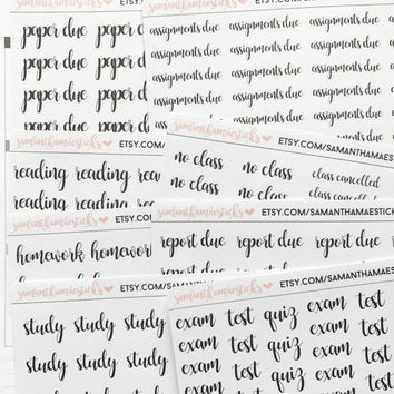 SCHOOL Lettering for use with Erin Condren Lifeplanner™ Happy Planner Stickers