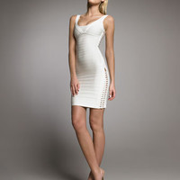 Herve Leger - Lace-Up Bandage Dress - Bergdorf Goodman