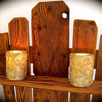 """Adirondack Chair Reclaimed Wood Wall Sconce 23"""" tall x 18.5 across x 5.5 wide- Handmade,Unique, Sturdy Wall Sconce- one of a kind"""