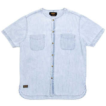 10 Deep - Beachfront Collarless S/S Button-Up Shirt (Indigo)