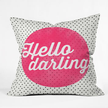 Allyson Johnson Hello Darling Dots Throw Pillow