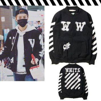 ONETOW Off White WW Collage Jacket Black