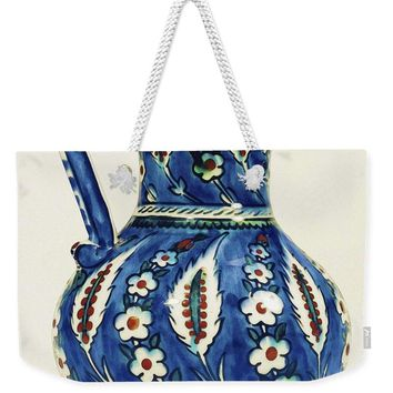 An Ottoman Iznik Style Floral Design Pottery Polychrome, By Adam Asar, No 19a - Weekender Tote Bag