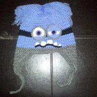 Evil Purple Minion Despicable Me Hat with earflaps