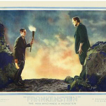 Frankenstein The Man Who Made A Monster Vintage Movie Poster