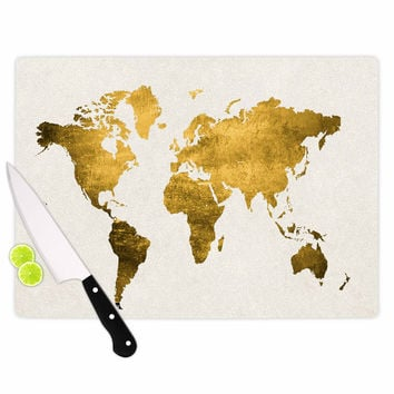 "Chelsea Victoria ""Let Love Light The Way"" Gold Love Cutting Board"