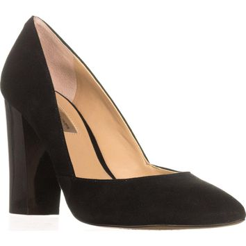 I35 Eloraa Block-Heel Pumps, Black, 9 US