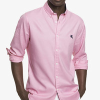FITTED OXFORD SHIRT from EXPRESS