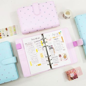 Refillable Dokibook Macaron Pink Mint Planner travel Journal Kawaii Cute Notebook Filofax Agenda Organizer A5 A6
