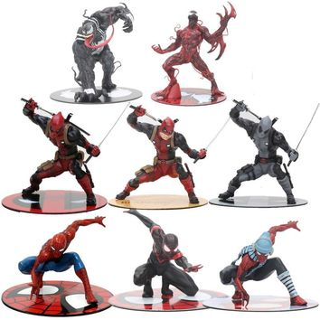 12cm The Avengers The Amazing Spiderman Venom Deadpool Figure Toy ARTFX 1/10 Scale Statue Collection Model Brinquedos Gift