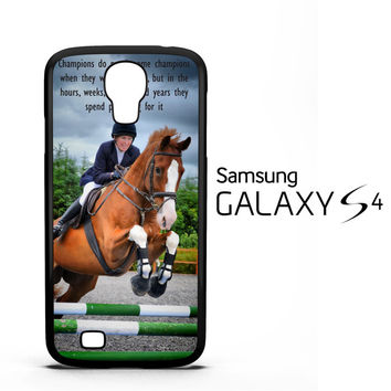 horse jumping photography Y2410 Samsung Galaxy S4 Case