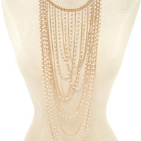 Faux Pearl Statement Necklace | Forever 21 - 1000205096