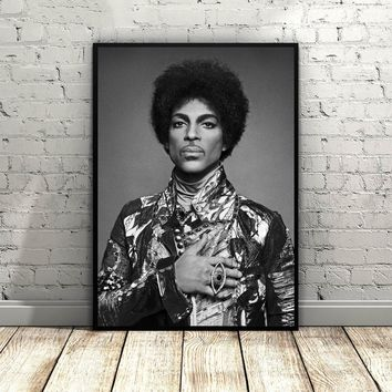 Prince Rogers Nelson Art Silk Fabric Poster Wall Decor 12x18 20x30Inch