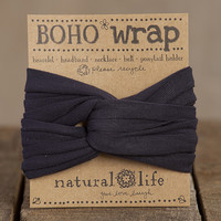 Boho Wrap Charcoal - Piace Boutique