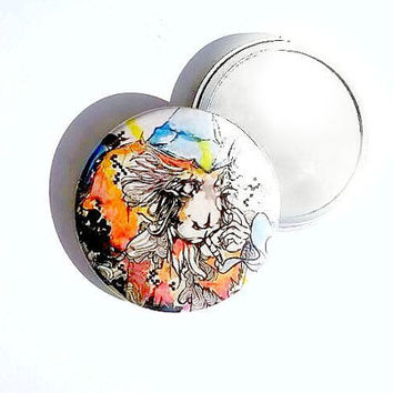 Hand Mirror -  Pocket Mirror - Small Mirror - Makeup Tool - Makeup Gift - Cosmetic Gift - Cosmetic Mirror - Party Favor