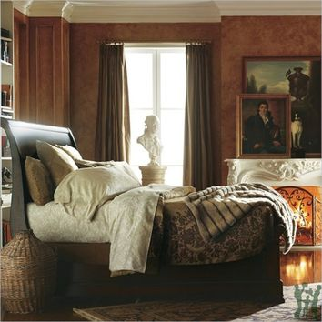 Louis Philippe Queen Sleigh Bed in Orleans by Stanley Furniture 058-13-52