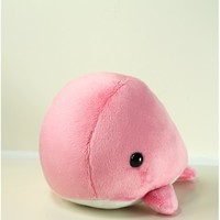Cute Bellzi Pink w/ White Contrast Whale Plushie Doll - Whali