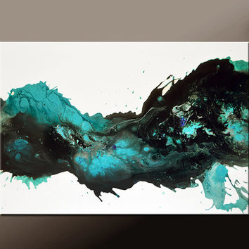 Abstract Canvas Art Painting 36x24 Original Contemporary Paintings by Destiny Womack - dWo - Stardust II