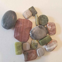 15 big marble jade stone beads lot gemstone beads stone pendants rectangle oval bead charms natural jewelry