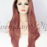 24 Ombre Wavy Synthetic Lace Front Wig-edw1011
